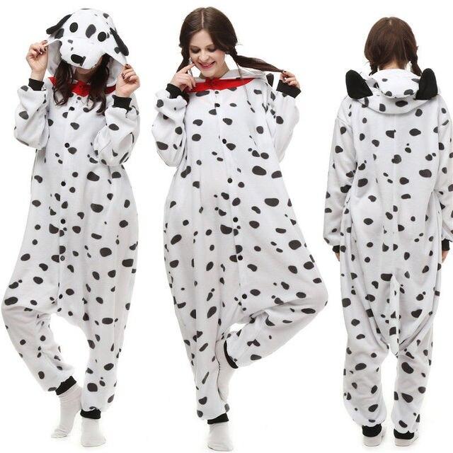 Cute Men Women Unisex Adult Winter Animal One-Piece White Dalmatians Cosplay Sleepwear Lovers Dog  sc 1 st  AliExpress.com & Cute Men Women Unisex Adult Winter Animal One Piece White Dalmatians ...