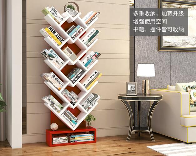 150 CM Boom Vorm Boek Plank Studeerkamer Boekenkast Hout Opbergrek - 5