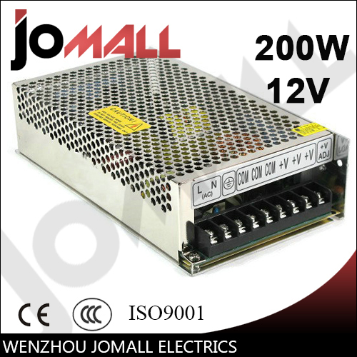 Free Shipping 200w 12v 16.5a Single Output hot online power supply switching image
