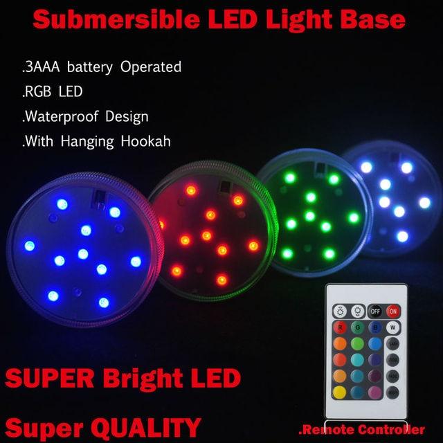 Super Bright4 PCSlot Multi color Flash Submersible LED Light
