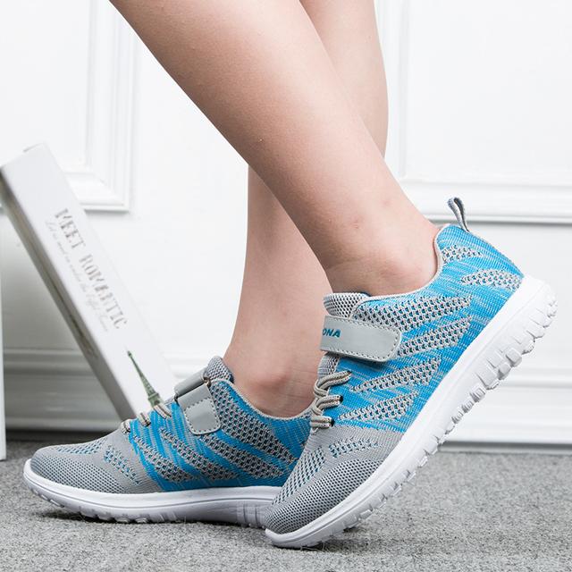 Nueva llegada de BONA, zapatos casuales de estilo Popular para niños, Zapatillas de malla para niños y niñas, zapatos planos para correr para niños, ligeros y rápidos envío