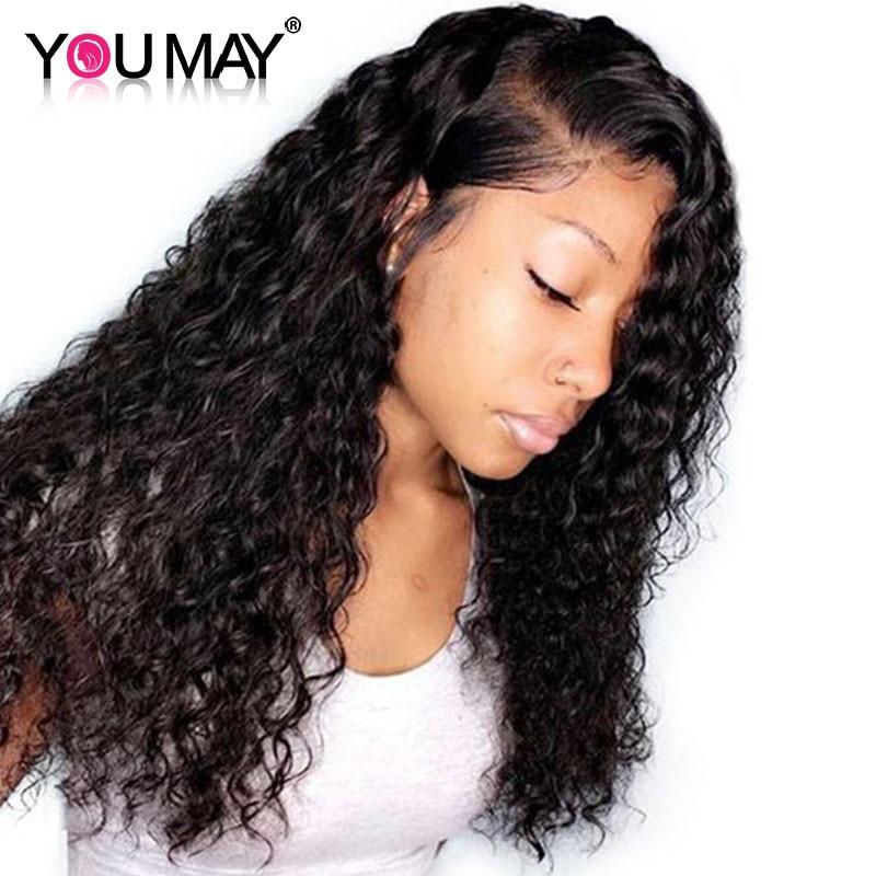 Pre Plucked 13 6 Deep Part Lace Front Wigs For Women 150 Density Brazilian Deep Wave