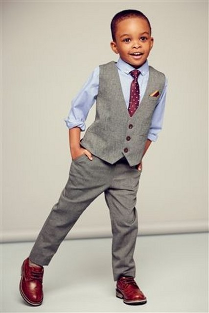a13bdf3cb 2016 Cheap Handsome Grey Little Boys Wedding Suits ( Pants +Vest ...