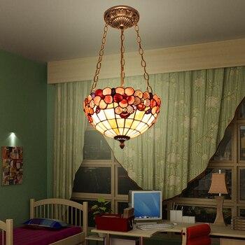 12INCH mediterranean tiffany style shell  pendant light for bedroom  lobby  droplight 110-240V
