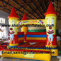 happy clowns Bounce house inflatable trampoline jumping bouncy castle bouncer jumper indood playground for kids