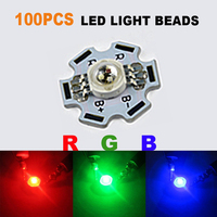 100pcs LED COB Chip RGB With PCB 3W High Power Lights Chip Lights Red Green Blue SMD DIY Round Wholesale Beads Diodes Chip