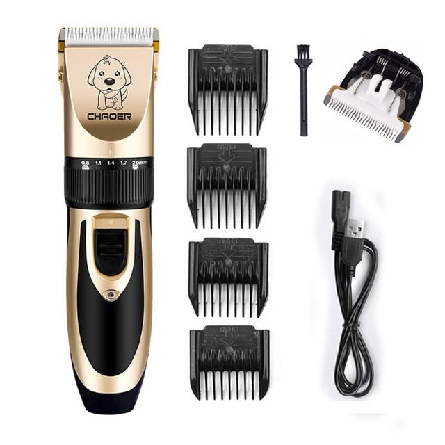 充電式低ノイズ猫犬の毛トリマー電気ペットバリカンリムーバーカッターグルーミング散髪機