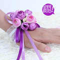 2017 Elegant Married Bride Bridesmaid Wrist Flower Wedding Flower Wholesale
