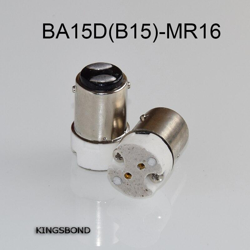 Freeshipping 10pcs/lot portable BA15d to MR16 led lamp base converter light bulb holder B15 to MR16,G4,G5.3,GY6.35,G8 led socket