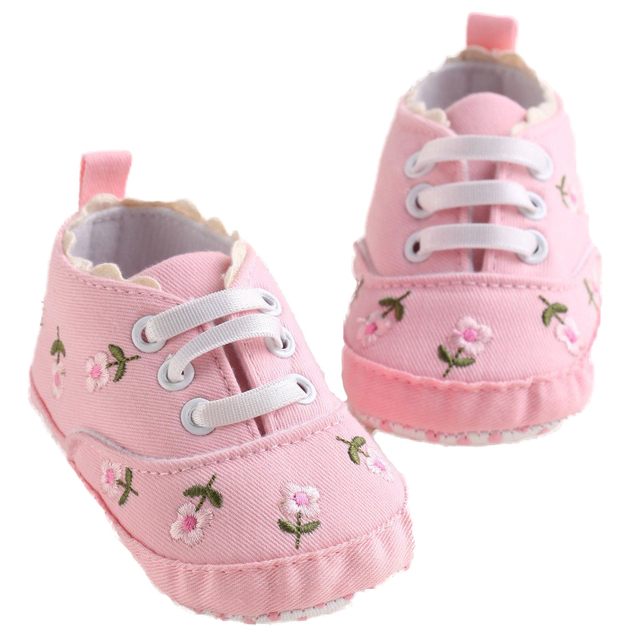 0-18 Months First Walkers Toddler Kid Baby Girl Floral Embroidered Soft Shoes For Newborn Walking Shoes  3
