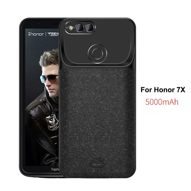 71a243e5edf 5000mAh Battery Case For HUAWEI Honor 7X 8X External Power bank Charger TPU  Frame Phone cover Case for honor 6x