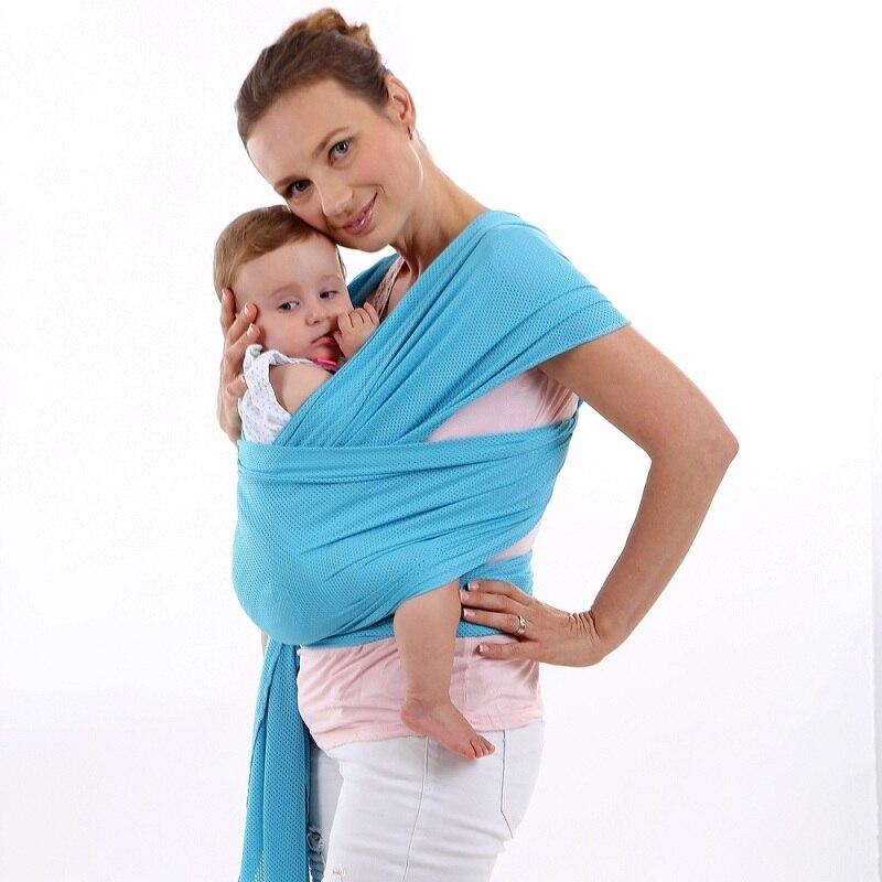 Netto Doek Pasgeboren Ontluchting Baby Wrap Carrier Baby Zachte Voor
