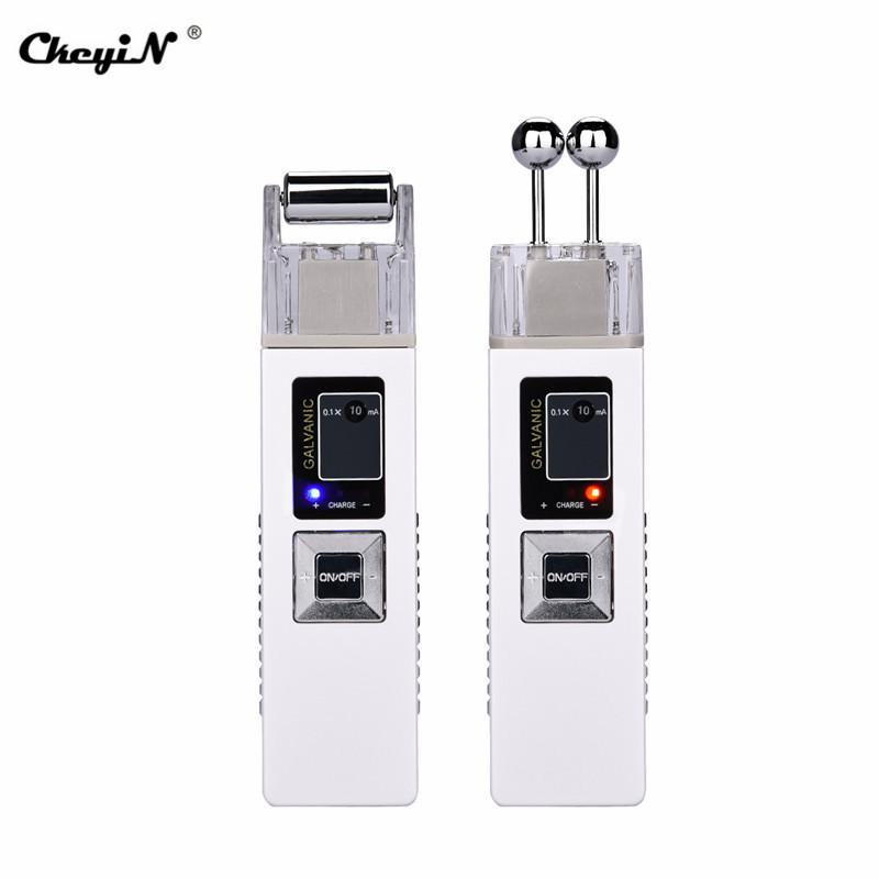 Galvanic Ion Microcurrent Skin Firming Machine Iontophoresis Anti aging Massager Face Clean Freckle Cutin Removal Device