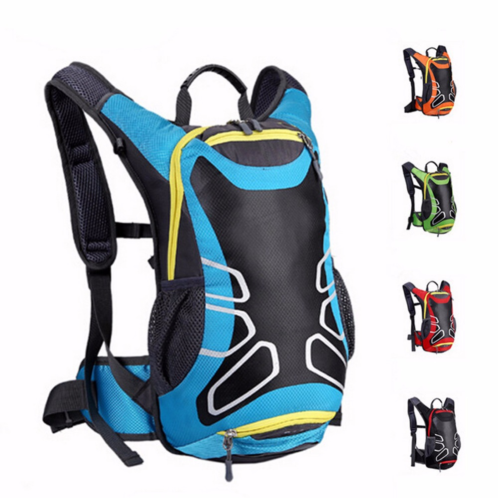 15L Outdoor Sport Backpack Road/Mountain Bike Cycling Bag Multi-pocket for Mountaineering Hiking Large Capacity Camping Bag