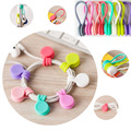 8pcs Headset spade Silicone Magnet coil earphone cable winder headset type bobbin winder hubs cord holder Cable Wire Organizer