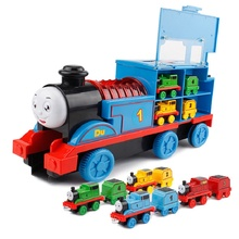 Thomas Slider Children Interactive Train Gift Glow Train Boy Girl Music Sound Train Christmas New Year Holiday Birthday Toy Gift new injection molding magnetic thomas and friend children s toy train series farms freight transportation limited edition