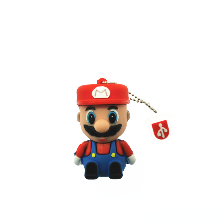 2019 Hot USB Stick 32GB Super Mario Cartoon Pendrive U Disk  64GB Funny Usb Flash Drive 16GB Memory Stick 8GB 4GB Pen Drive
