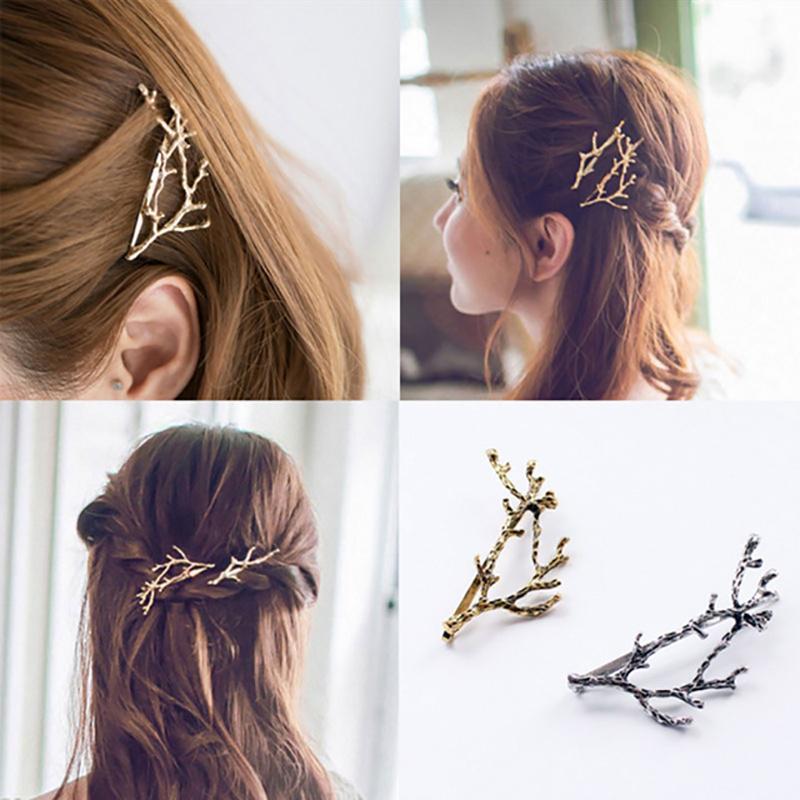 Элегантный металлический ветка заколки Заколки для волос для Для женщин заколки женский Головные уборы сплав аксессуары для волос зажим дл...