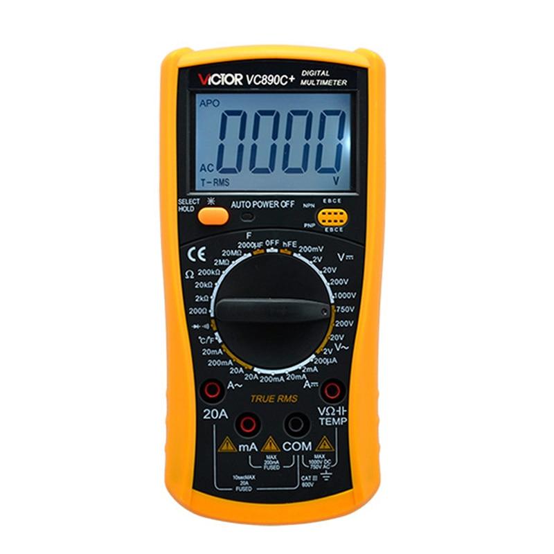 VICTOR VC890C+ Digital Multimeter with Temperature Test Function True RMS Multimeter 2000UF Capacitor Temperature Measurement professional victor vc890c digital multimeter true rms multimeter 2000uf capacitor temperature measurement