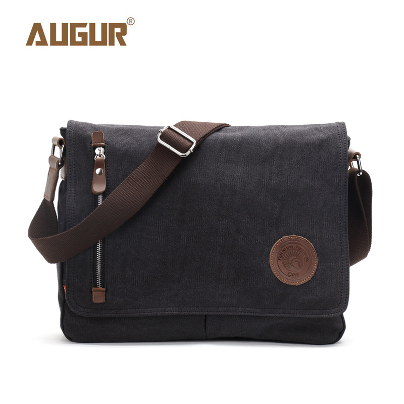 4b703afc915 5 Colors Men s Women s Vintage Canvas Bag Genuine Leather School Military Messenger  Shoulder Bag Travel Shoulder Bags UnisexUSD 48.80 piece ...