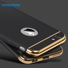 VOONGSON Luxury Gold Hard Case For iphone 7 6 6S Plus 5 5S SE Back Cover Coverage Removable 3 in 1 Fundas Case 6Plus 7Plus Bag