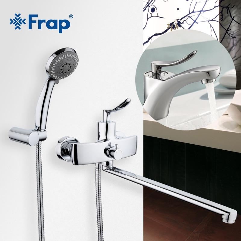Frap New Arrival Single Handle 35cm Long Nose Outlet Brass bathtub ...