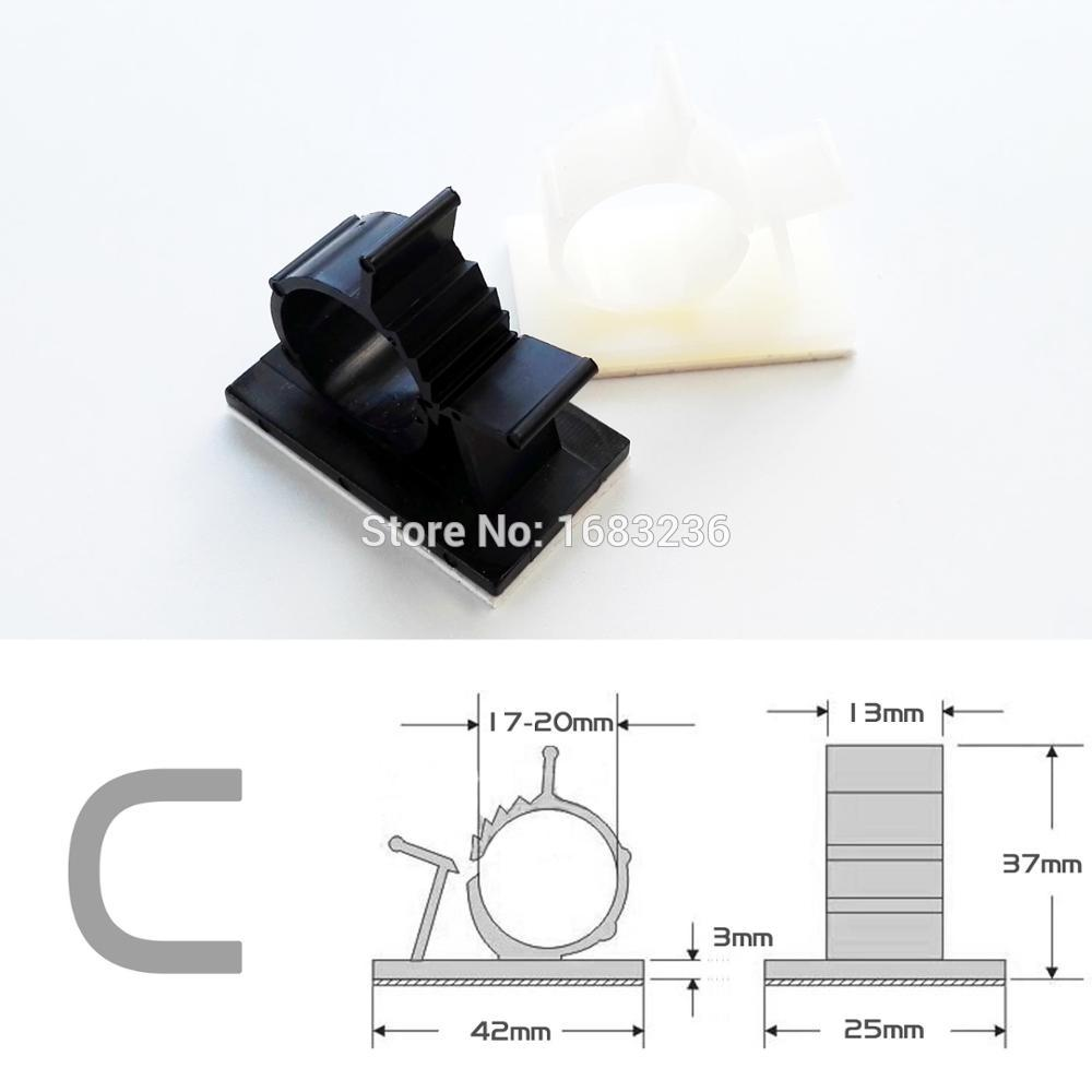 Nylon Self Adhesive Wire Saddle 2pcs Cable Clip Cable Management