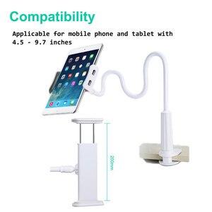 Ascromy мобильный телефон подставка держатель зажим для iPad Pro 11 10,5 9,7 iPhone XS Max настенная Гибкая длинная рука гусиная шея металлический кронштейн