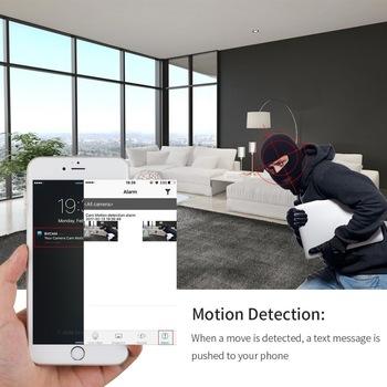 Mini WiFi żarówki światła 360 stopni HD kamera wideo typu #8222 rybie oko #8221 bezpieczeństwa IR Night Vision detekcja ruchu panoramiczny Cam domu kamery tanie i dobre opinie 960 p 360 x 180° O 1 3MP EC9 Videocamera MicroSD TF Nie ma stabilizacji obrazu 128G YYS SPY iPhone Android Phone PC