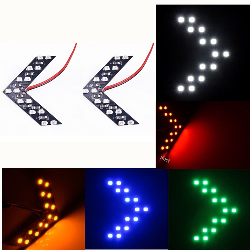 2Pcs Car Accessories Rearview Mirror Turn Signal Light LED Safe Indicator Parking Lamp For BMW VW Audi Ford Opel Honda Toyota