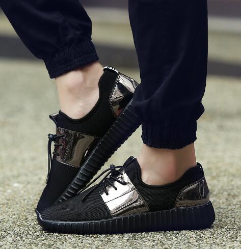 Summer De Automne or Taille New Sport Respirant Chaussures Couple 35 blanc Mode 2018 Hommes Plat Noir 46 5RqzxTw