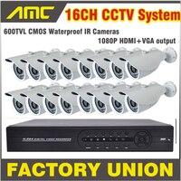 600TVL Bullet CCTV 16CH Caméra Kit Système de Caméra de Sécurité de Surveillance 16 Canaux DVR Enregistreur CCTV système 16ch DVR Kit16 ch