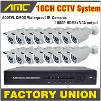 600TVL Bullet CCTV 16CH Camera Kit Surveillance Security Camera System 16 Channel DVR Recorder CCTV system 16ch DVR Kit16 ch