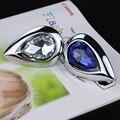 Cristal K9 água Prop Shapes Diamond armário Dresser puxa diamante azul alças Closet armário de vidro claro cromo maçanetas
