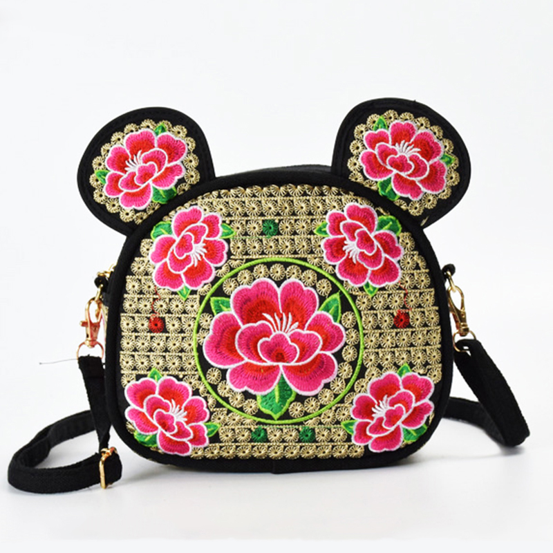 18 Kinds Of Cute Mini Backpack Women Bag Hello Kitty Shaped Backpack With Seal Beauty Floral Embroidery Small Lady Backpack