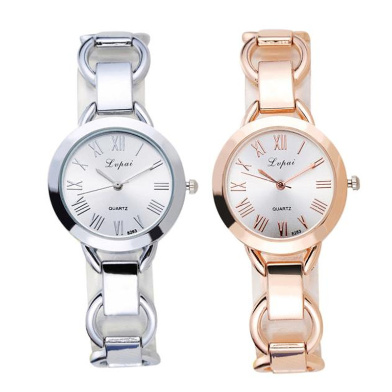 font b Women b font Bracelet font b Watches b font Silver Solid Rose Gold