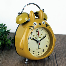 Cartoon Alarm Clock Children Room Mute Clock Headlamp With Lamp Alarm Clock Dragon Cat Modeling Student Table Clock