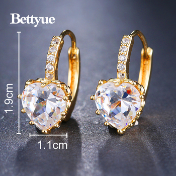 Bettyue Cute Earring Zircon Multicolor Elegant Hearts Shape Jewelry Fashion Trend Design Adorable For Women Party Choice 5