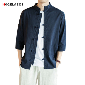 Linen Cotton Men Shirt Master Clothing P...