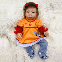 18 inch Boneca Reborn Soft Cotton Body Silicone Vinyl Dolls Reborn Baby Doll Newborn Lifelike Bebe Reborn Doll Birthday Gift