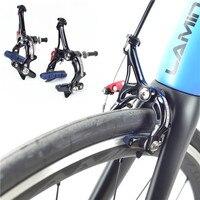 Paquímetro de freio ultraleve de alumínio/carbono  círculo  pivô duplo  para bicicleta de estrada com liberação rápida/paquímetro do freio da bicicleta