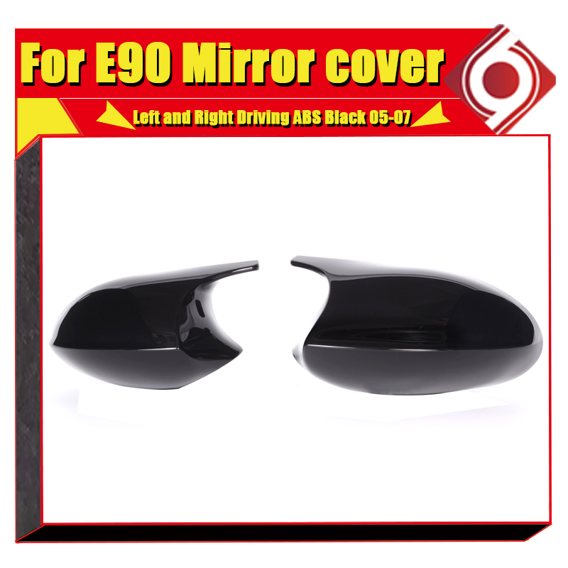 Image 5 - M3 Look Mirror Cover Cap Add on Style ABS Gloss Black For BMW E90 3 Series Sedan 1:1 Replacement 2 Pcs Side Mirror Cap 2005 2007-in Mirror & Covers from Automobiles & Motorcycles