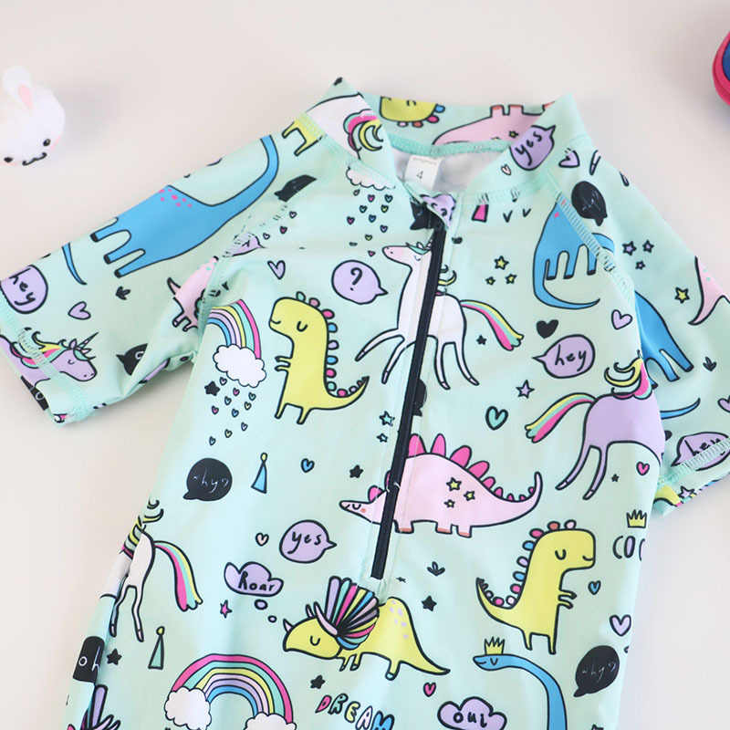 dc54933187 ... Kids Boys Cartoon Unicorn One Piece Swimsuit Baby Girls Sport UV  Prodection Swimwear Children Swim Swimming