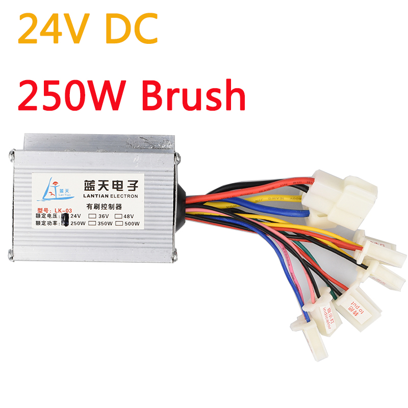 Brush Controller 250W DC 24V Brushed Motor Speed Controllers Electric Scooter Bicycle E bike Electric Bicycle Accessories LK-03