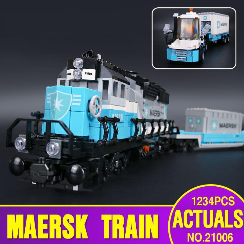 DHL 21006 véritable Technic ultime série le Train 10219 ensemble blocs de construction éducatifs briques assemblage enfants jouet cadeau d'anniversaire