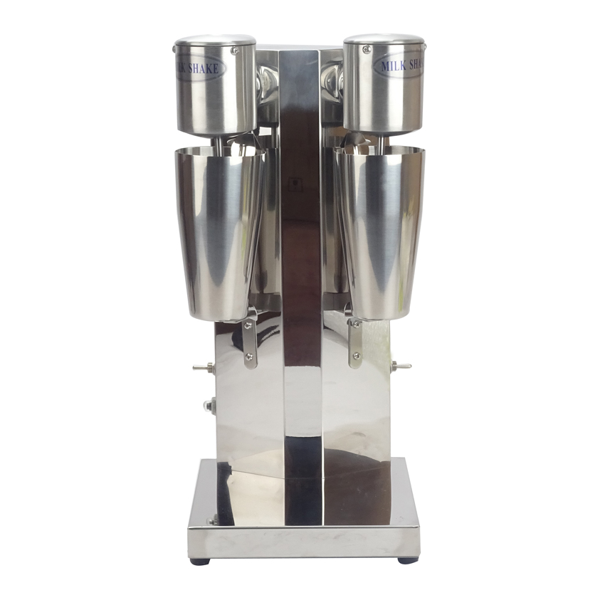 1PC Commercial Stainless Steel Milk Shake Machine Double Head Mixer Blender Make Milks Foam/Milkshake Bubble Tea Machine jiqi milk shake stirring machine electric milkshaker drink mixer blender milk foam stainless steel bubble tea smoothie maker eu