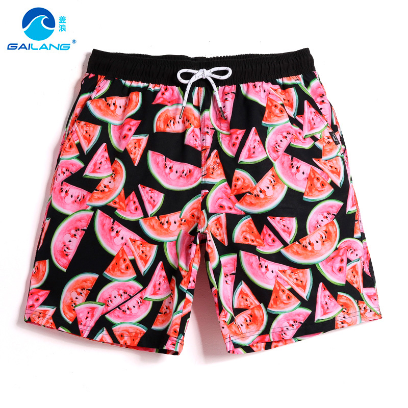 Men's swimming trunks for homme hawaiian quick dry surfing swimwear liner breathable swimsuit board shorts mesh briefs
