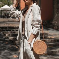 ARPIMALA 2019 Runde Stroh Taschen Frauen Sommer Rattan Tasche Handarbeit Gewebt Strand Kreuz Körper Tasche Kreis Böhmen Handtasche Bali