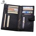 Fashion Women Men Business Genuine Leather Card Holder Famous Designer Brand Credit Card&ID Holder Bag Case Card Wallets Black