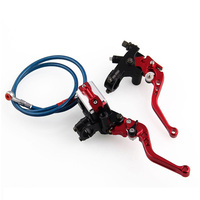 Motorcycle 7/8 CNC Set Reservoir Front Brake Hydraulic Clutch Master Cylinder Lever With Oil Pipe